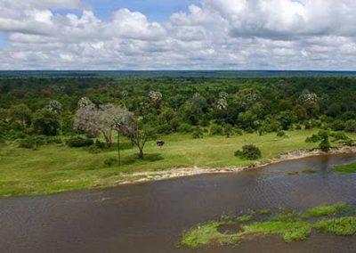 Old Drft Lodge site Zambezi River, Victoria Falls