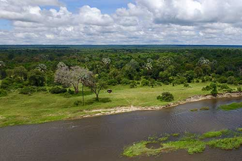 New site for the Old Drft Lodge on the Zambezi River, Victoria Falls