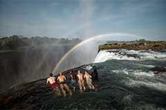Victoria Falls edge