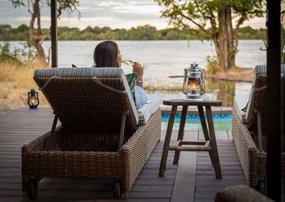 Enjoying River views at Old Drift Lodge in privacy and luxury